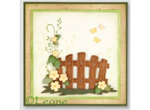 Leane Creatief - Lea'bilities Stamping and Embossing stencil, Garden Gate