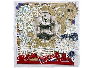 Joy!Crafts und JM Creation Corte y estampado en relieve plantillas, manojo de flores
