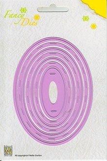 Nellie snellen Stempling og prægning stencil, sæt Oval