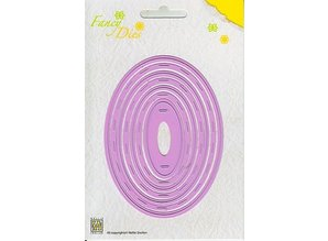Nellie snellen Stamping and Embossing stencil, set Oval
