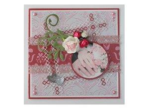 Joy!Crafts und JM Creation Corte y estampado en relieve plantillas, bordes - líneas