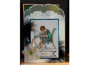 Crafter's Companion A6 Frou Frou timbro di gomma Unmounted Set - Love Letters