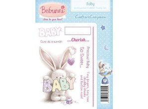 Crafter's Companion A6 Unmounted Gummi Stempel Set - Baby