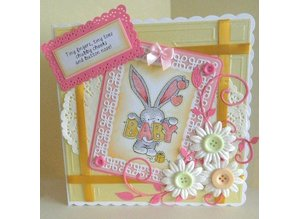 Crafter's Companion A6 Unmounted Rubber Stamp Set - Baby