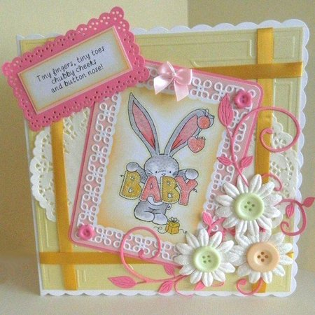 Crafter's Companion A6 sin montar goma Conjunto Stamp - Baby