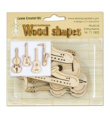 Objekten zum Dekorieren / objects for decorating Musicals instruments made of wood