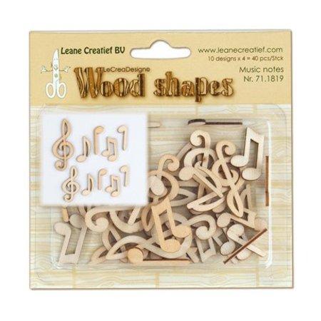 Objekten zum Dekorieren / objects for decorating Musiknoten aus holz, 40 teile