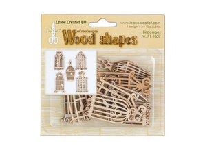 Objekten zum Dekorieren / objects for decorating Birdhouses lavet af træ, 10 dele