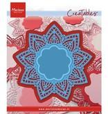 Marianne Design Skæring og prægning stencils, mellemlægsserviet stjerne