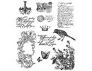 "Tim Holtz Tim Holtz, rubber stamps set, ""Shabby French CMS087"""