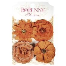 Embellishments / Verzierungen BoBunny, Papierblüten Zinnien