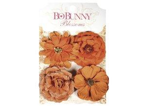 Embellishments / Verzierungen BoBunny, flores de papel zinnias