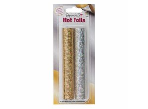 BASTELZUBEHÖR / CRAFT ACCESSORIES 6m metallic foils Holographic, 2 pieces