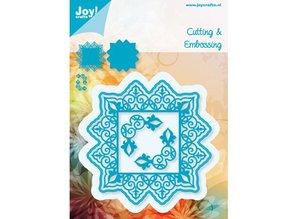 Joy!Crafts und JM Creation Skæring og prægning stencils, firkantet + 2 hjørne