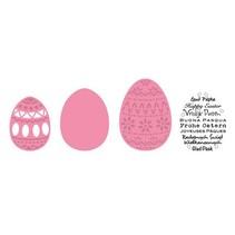 Corte y estampado en relieve plantillas Pascua