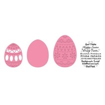 Cutting and embossing stencils Easter