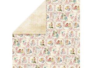 Designer Papier Scrapbooking: 30,5 x 30,5 cm Papier Designer Bow, 30,5 x 30,5 cm, Nyfødte Født 3