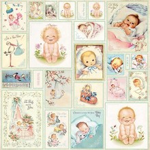 Designer Papier Scrapbooking: 30,5 x 30,5 cm Papier Designerbogen, 30,5 x 30,5cm, New Baby Born 7