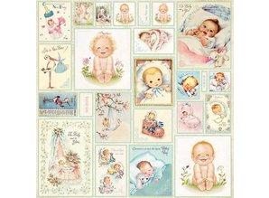 Designer Papier Scrapbooking: 30,5 x 30,5 cm Papier Designer Bow, 30,5 x 30,5 cm, Nyfødte Født 7