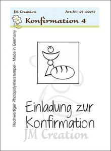 Stempel / Stamp: Transparent Gennemsigtige frimærker, Konfirmation Invitation Chalice