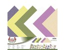 Amy Design Designerpapier, Leinen, 30,5 x 30,5cm in zarte Farben