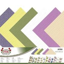 Ontwerper document, linnen, 30,5 x 30,5 cm in delicate kleuren