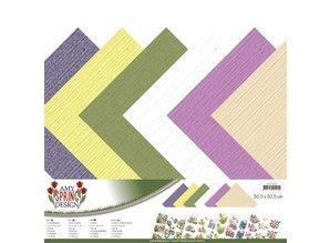 Amy Design carta Designer, lino, 30,5 x 30,5 centimetri in colori delicati