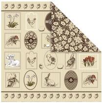 1 Diseñador Bow, 30,5 x 30,5 cm, con bonitos motivos de Pascua