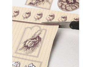 Designer Papier Scrapbooking: 30,5 x 30,5 cm Papier 1 Designer Bow, 30,5 x 30,5 centimetri, con graziosi motivi di Pasqua