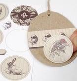 Designer Papier Scrapbooking: 30,5 x 30,5 cm Papier 1 Designer Bow, 30.5 x 30.5cm, with pretty Easter motives
