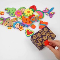 Foam stamp different with fun designs, 20