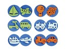 Kinder Bastelsets / Kids Craft Kits Stamp of foam rubber: transport, a total of 12 designs