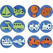 Kinder Bastelsets / Kids Craft Kits Timbro in gommapiuma: trasporti, per un totale di 12 disegni