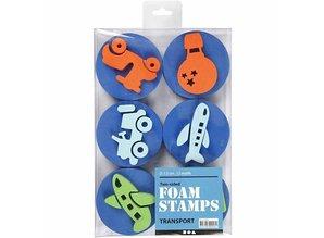 Kinder Bastelsets / Kids Craft Kits Stempel lavet af skumgummi: transport, i alt 12 designs