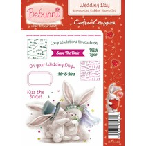 A6 Unmounted rubber stamps set, wedding