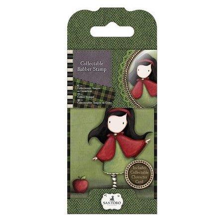Gorjuss / Santoro NUEVO: Sello de goma Mini No.14 Little Red