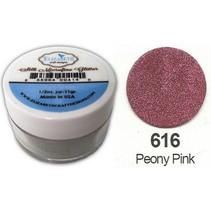 Seda MicroFine escarcha en rosa peonía