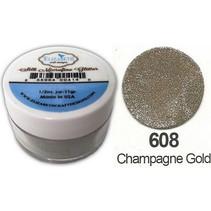 Zijde MicroFine Glitter, in Champagne Gold