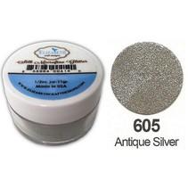 Zijde MicroFine Glitter, antiek zilver in