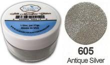 Taylored Expressions Seta MicroFine Glitter in argento antico