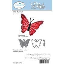 Snijden en embossingstencils: Vlinder