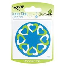 X-Cut / Docrafts plantillas de perforación y gofrado encaje.Este, Cut & Fold