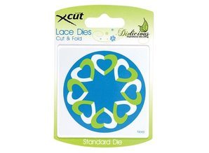 X-Cut / Docrafts Skæring og prægning stencils, Lace Dette, Klip & Fold