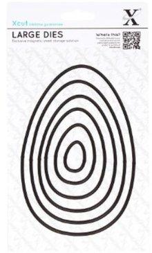 X-Cut / Docrafts Taglio e goffratura stencil: Uova di Pasqua