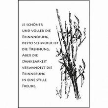 Stempel / Stamp: Transparent Gennemsigtige frimærker: kondolence, sorg