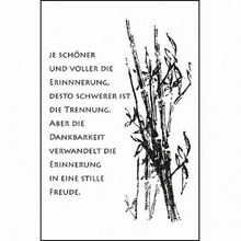 Stempel / Stamp: Transparent Transparent stamps: Condolence, Grief