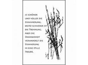 Stempel / Stamp: Transparent Transparent stempel: kondolence, Sorg