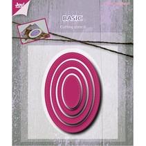 Stanz- und Prägeschablone: Basic Mery oval