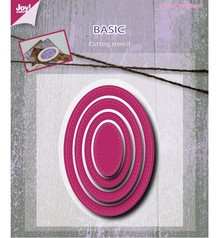 Joy!Crafts und JM Creation Stansning og prægning skabelon: Basic Mery oval