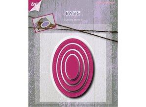 Joy!Crafts und JM Creation Troquelado y estampado en relieve plantilla: ovalada básica Mery
